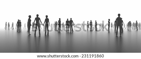 People in the city - stock photo