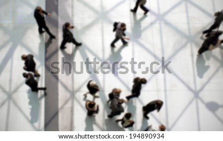 People, intentionally blurred post production background - stock photo