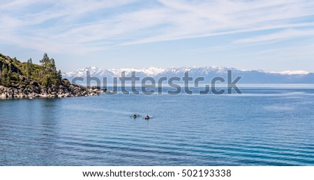 People kayaking on Lake Tahoe