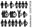 People Man Business Human Resource Stick Figure Pictogram Icon - stock photo