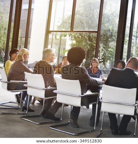 People Meeting Communication Corpoate Teamwork Concept - stock photo
