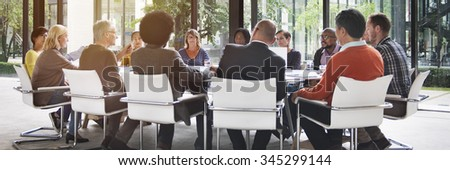 People Meeting Communication Corporate Teamwork Concept - stock photo