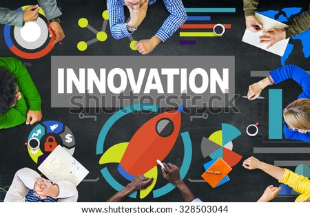 People Meeting Creativity Growth Success Innovation Concept - stock photo
