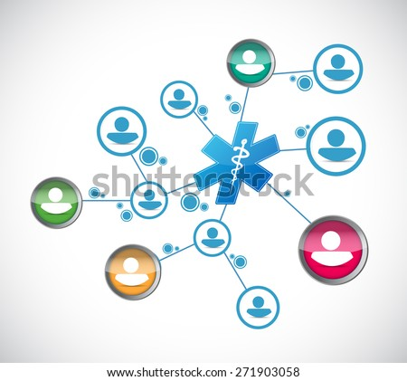 people network and medical concept illustration design over white