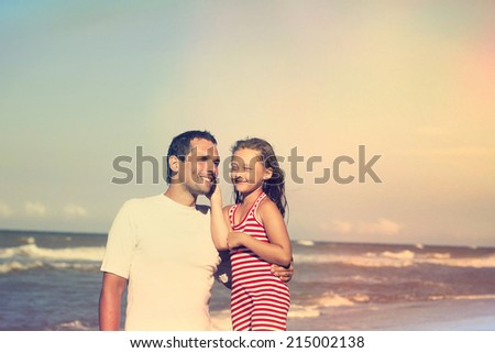 people on the beach  - stock photo