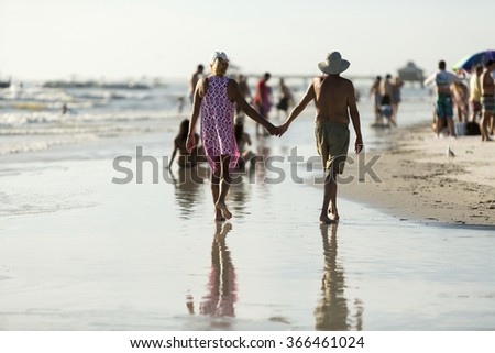 People on the Beach, Florida - stock photo