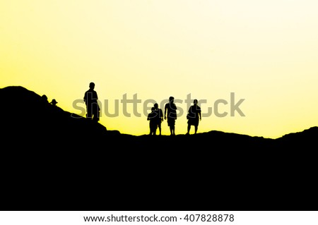people on top of mountain