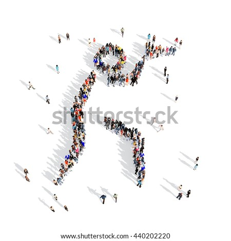 people pistol shooting sport 3d - stock photo