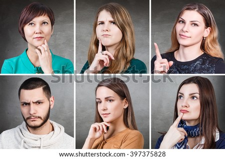 People portrait collage - stock photo