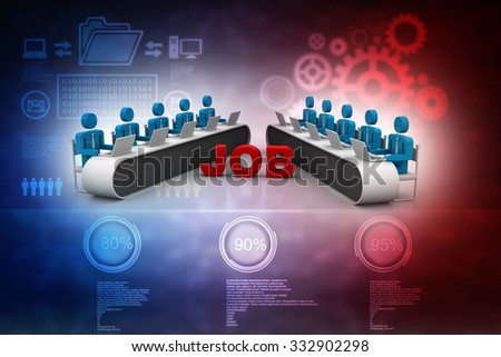People Queuing uPeople Queuing up for job interview concept 3d illustrationp for job interview concept 3d illustration