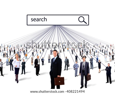 people search. business concept - stock photo