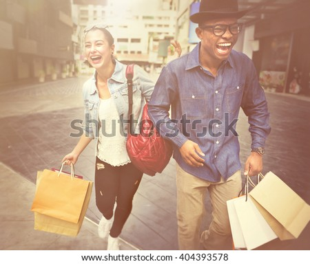 People Shopping Spending Customer Consumerism Concept - stock photo