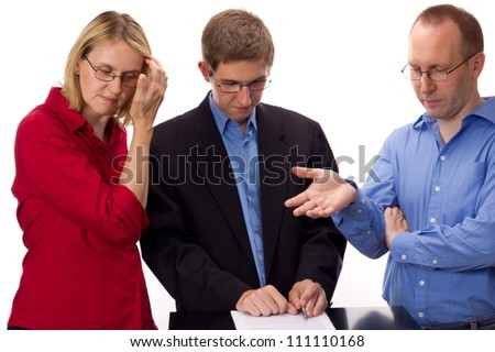 People signing of an agreement - stock photo