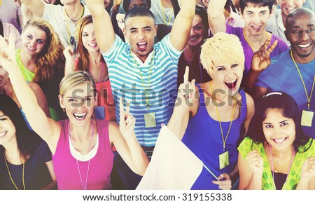 People Smiling Happiness Celebration Concept