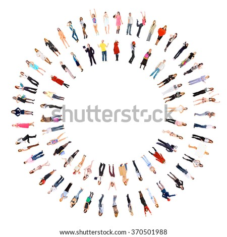 People Team Isolated over White  - stock photo