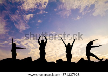 People to love letters, rocks, sky, love. - stock photo