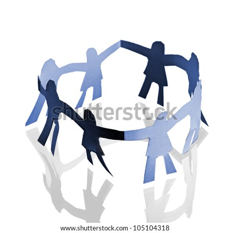 People together abstract - stock photo