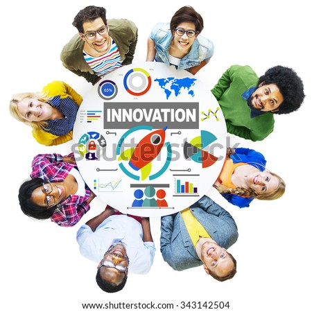 People Togetherness Creativity Growth Success Innovation Concept - stock photo