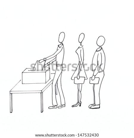 People voting - stock photo