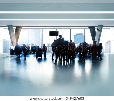 People waiting for the flight at airport