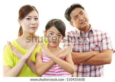 People who doing X mark - stock photo