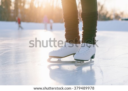 people, winter sport and leisure concept. - stock photo
