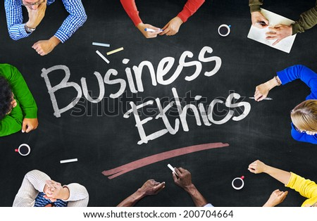 People Working and Business Ethics Concept - stock photo