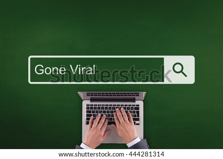 PEOPLE WORKING OFFICE COMMUNICATION  GONE VIRAL TECHNOLOGY SEARCHING CONCEPT - stock photo