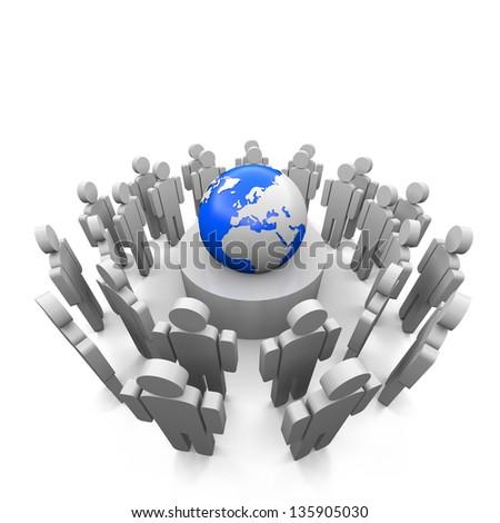 people world - stock photo