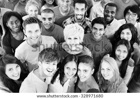People Youth Culture Together Students Cheerful Concept - stock photo