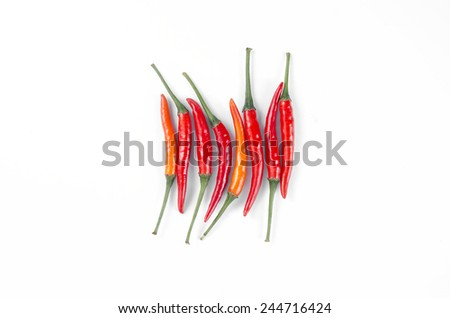 peper red isolated white background - stock photo