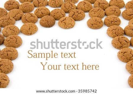 pepernoten (ginger nuts) sweets for typical Dutch festivity at 5 december, with empty space for your text