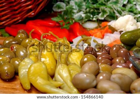 pepper and vegetable - stock photo