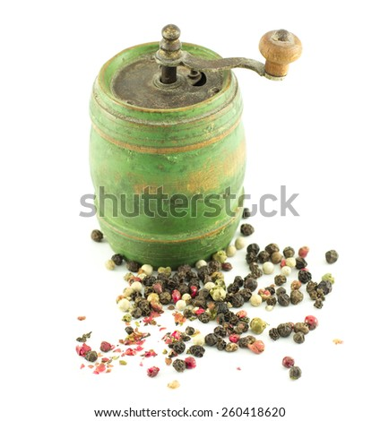 pepper isolated - stock photo