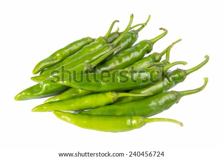 pepper isolated on a white background - stock photo