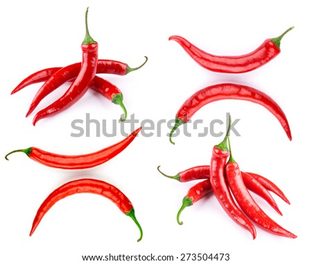 pepper set isolated on a white background