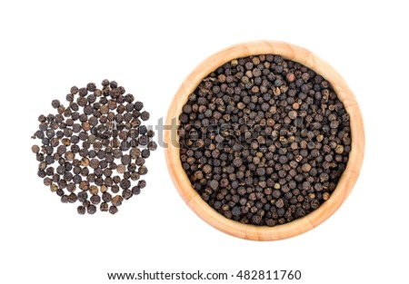 peppercorn isolated on white background