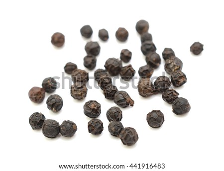 peppercorns isolated on white background