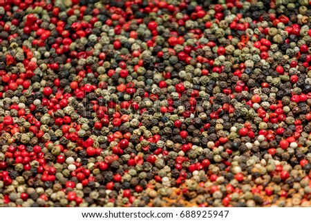 Peppercorns red and black