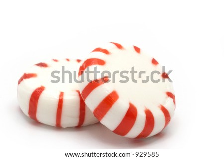 Peppermint candy macro - stock photo