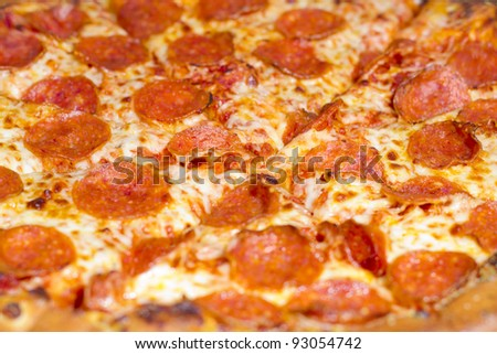 Pepperoni Pizza Close Up