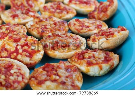 pepperoni pizza snacks - stock photo