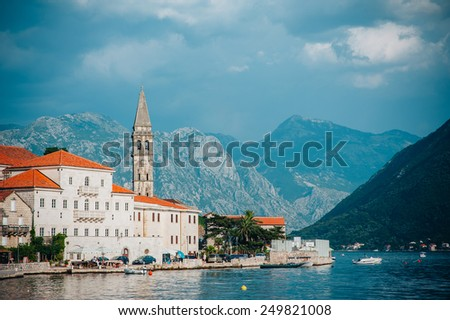 Perast Montenegro - stock photo