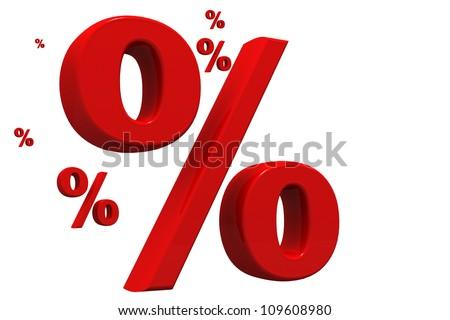 percent - stock photo