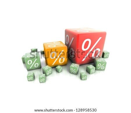 percent box - stock photo