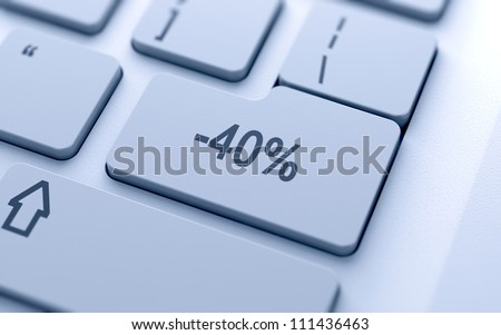 Percentage button on keyboard with soft focus