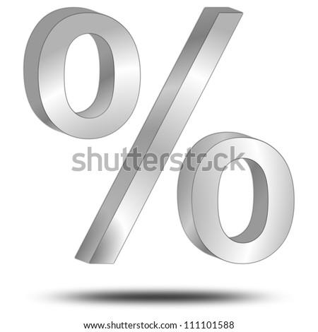 percentage symbol 3d - stock photo