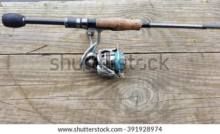 Perch fishing, fishing on spinning. - stock photo