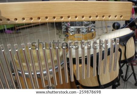 percussion set  - stock photo