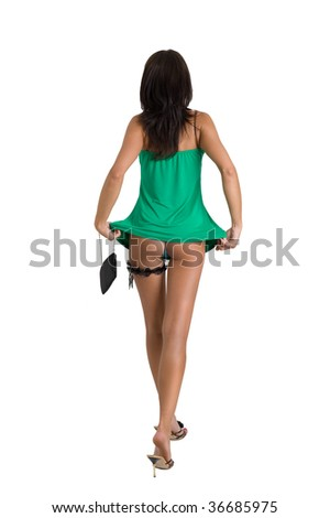 perfect ass isolated on white background stock photo (royalty free